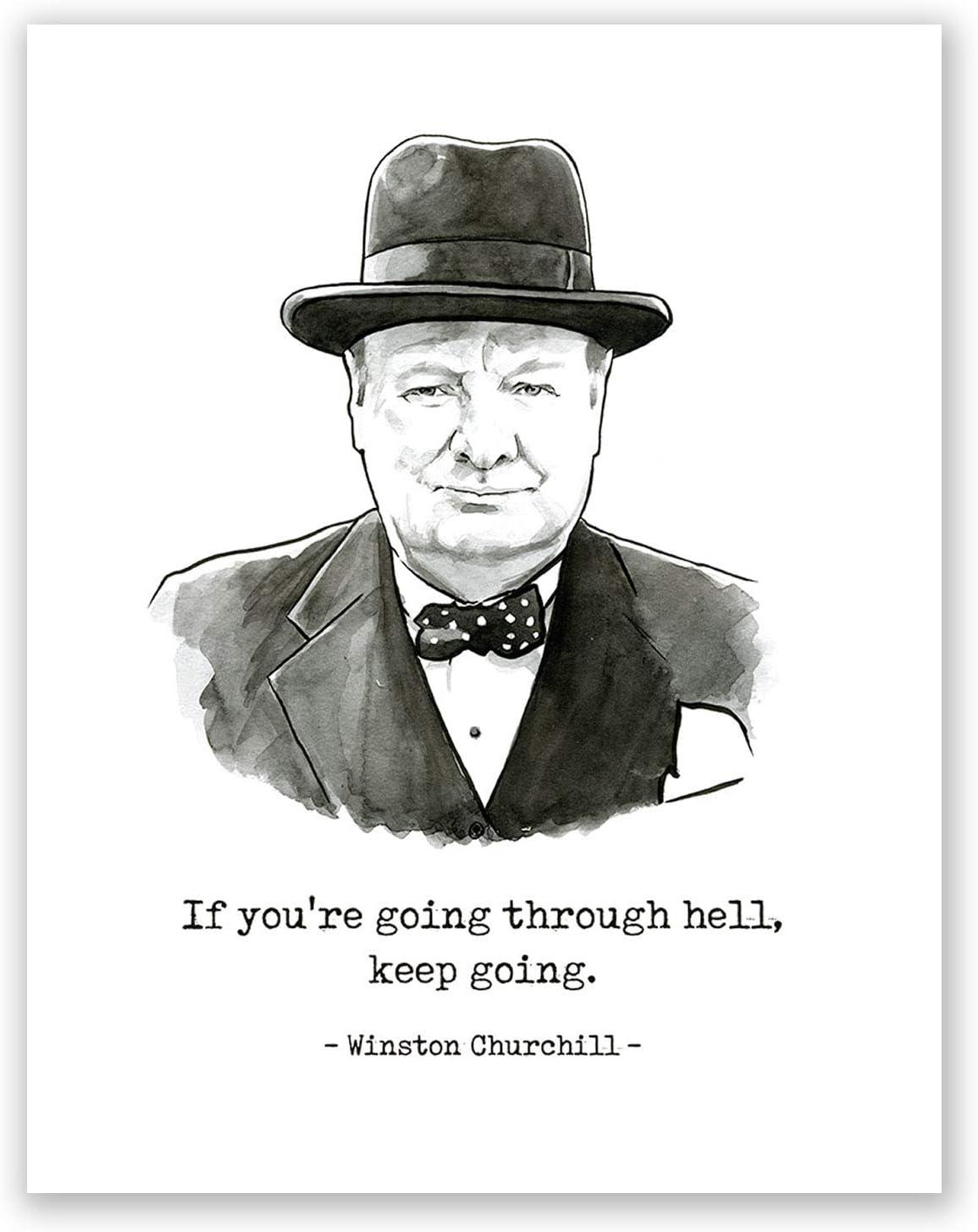 Winston Churchill quote art print wall art poster print  gift film A