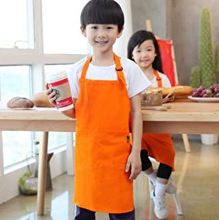 S1F2 Children's Apron Painting Anti-fouling Waterproof Children's Smock Kindergarten Painting Apron 2 Pieces S1F2 (Color : Orange)