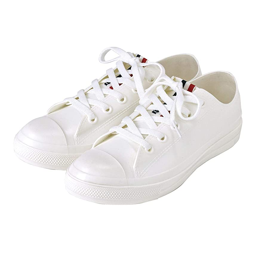 雑種息切れ請求可能SPICE OF LIFE 雨靴 レインスニーカー ホワイト Mサイズ(23.5cm~24cm) PVC レディース JSLK1010MWH