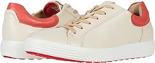 ECCO womens Soft 7 Street Sneaker, Vanilla/Coral Blush, 8-8.5 US