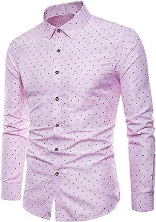 b9fe0fc1d982 Men's Long Sleeve Dress Shirts Formal Oxford Shirt Casual Slim Fit Shirts  Tops