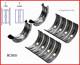 ENGINETECH BC303JSTD MAIN BEARINGS SET (SIZE:STD) compatible with 1961-1978 FORD FE 330 352 359 360 361 389 390 391