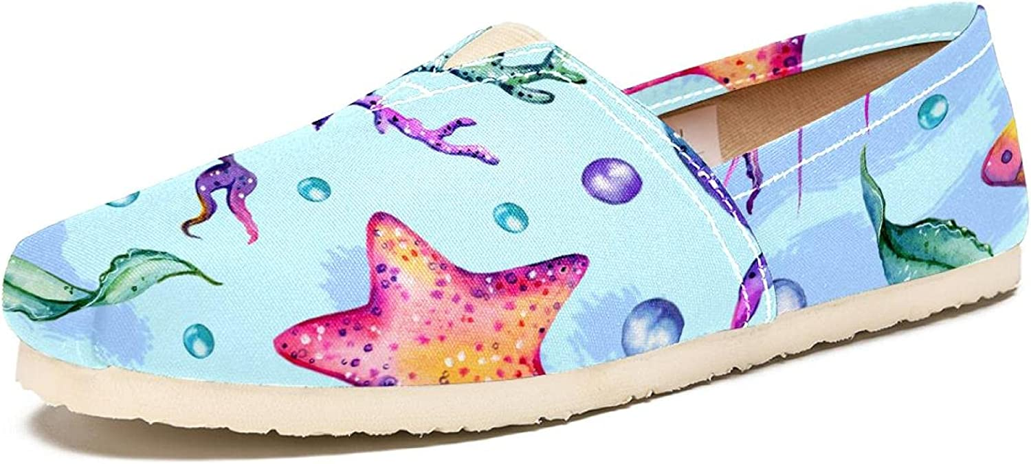 Women's Max 82% OFF Fashion Art Japan's largest assortment Sneaker Canvas Shoes Watercol Slip-On Travel