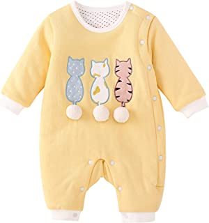 pureborn Baby Thicken Romper Infant Coveralls Boys Girls Winter Snowsuit Playsuit Outfit