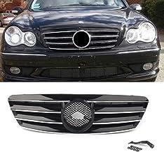 NMQQ Rejilla de la Parrilla de 4 Polos para Mercedes Bens Clase C W203 C230 C240 C320 C220 C32 2000-2006 sin Emblema