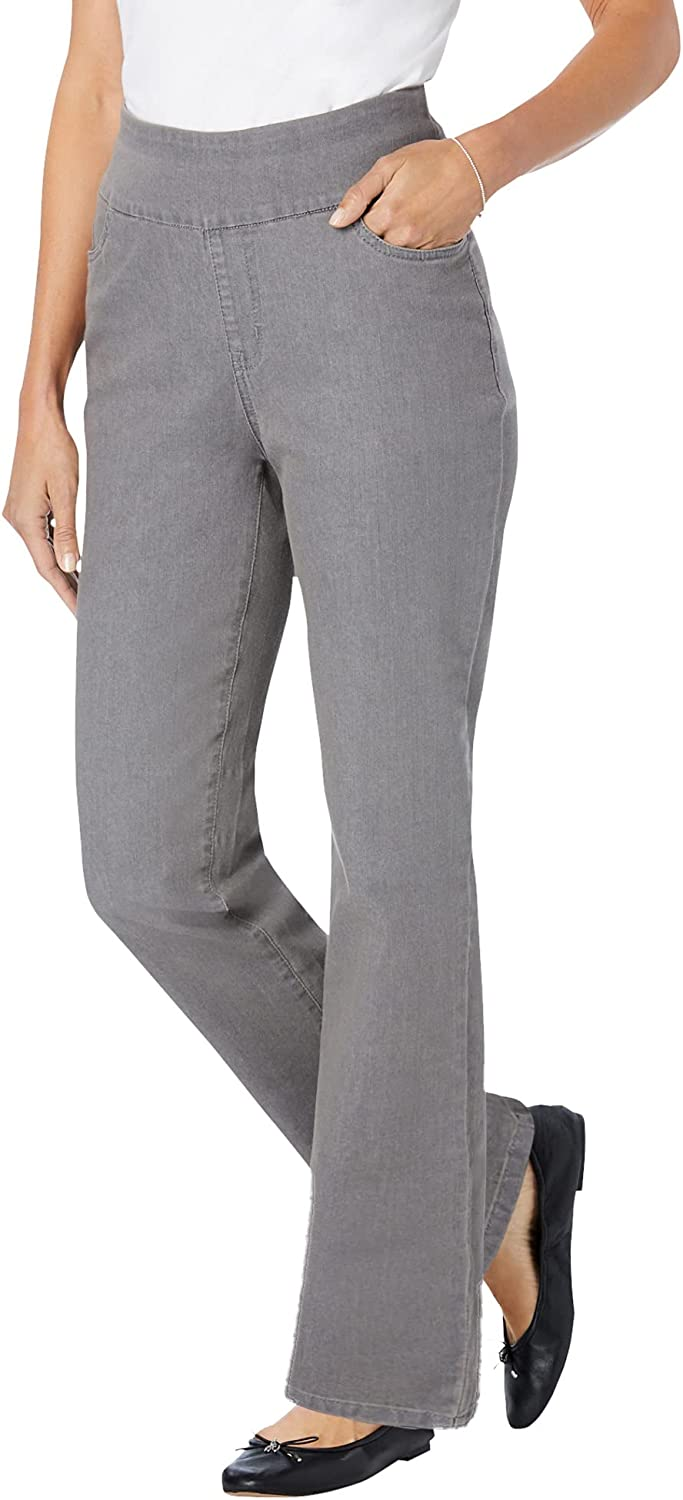 Woman Within Women's Plus Size Petite Pull-On Bootcut Jean
