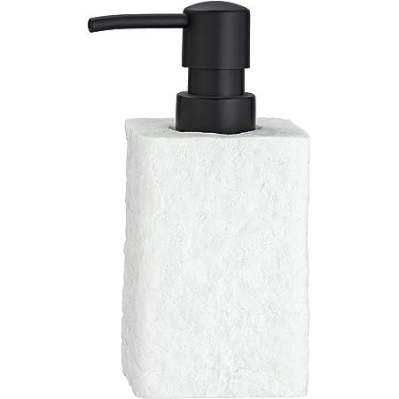 Wenko Distributeur de savon Villata, Polyrésine, Blanc., 7 x 15 x 7 cm