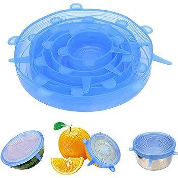 CuiGuoPing - Tapadera redonda de silicona (6 unidades, reutilizable) Rosa.: Amazon.es: Hogar