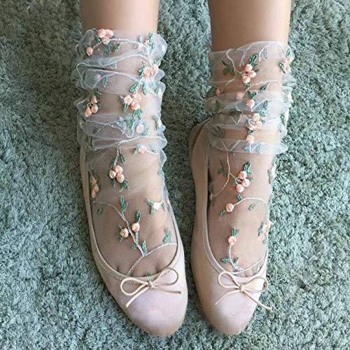 Caramelo kawaii calcetines mujeres colores transparentes