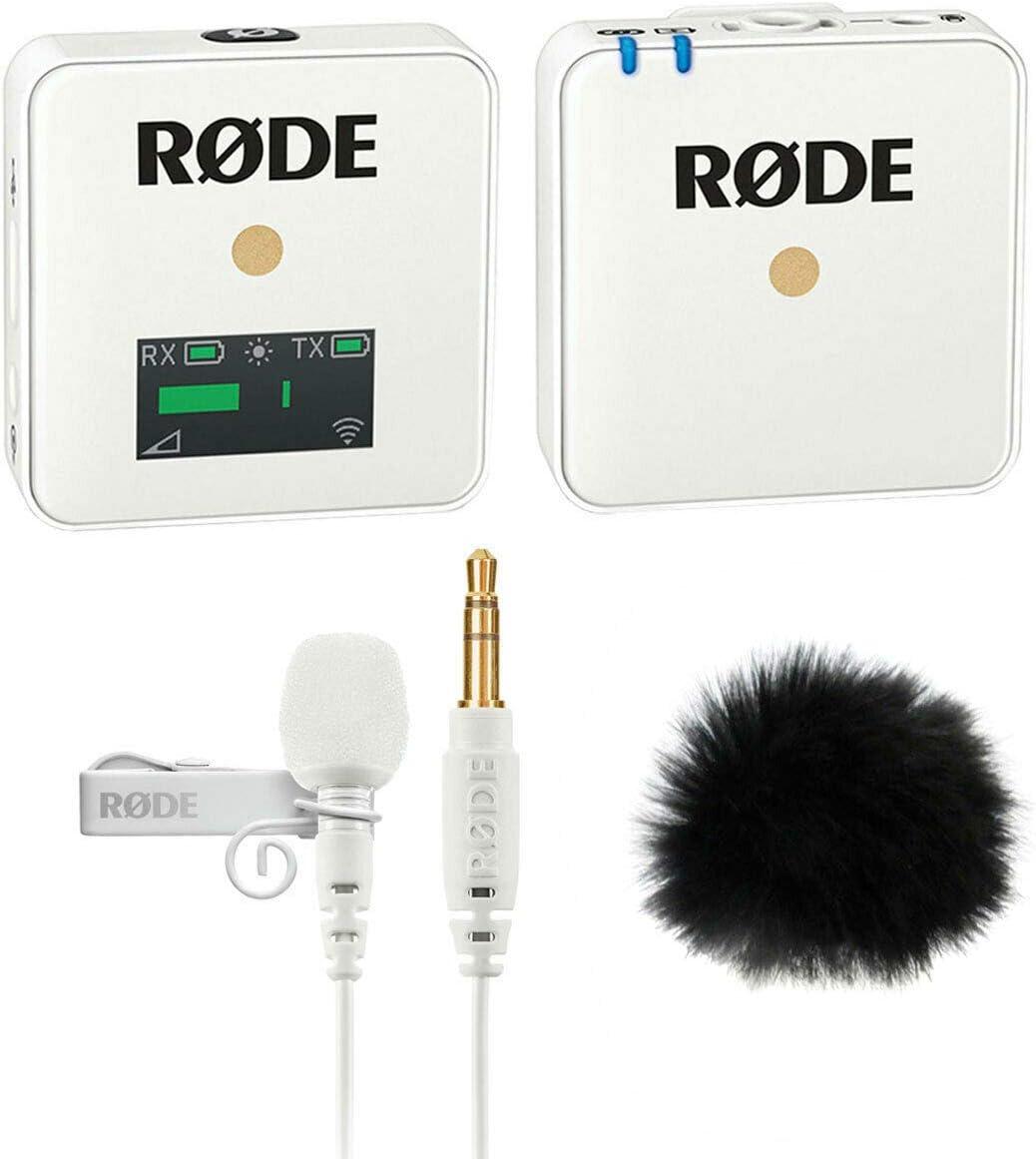 Rode WIGO Wireless GO - Sistema de radio inalámbrico con micrófono Lavalier GO y cortavientos de piel de keepdrum