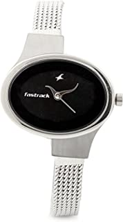 Fastrack Women's Black Dial Metal Band Watch - 6015SM02
