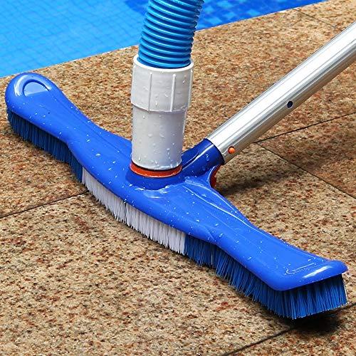 Vwlvrsco 20inch Swimming Pool Cleaning Brush Head Pond SPA Wall Floor Broom Cleaner Tool Durable Blue White