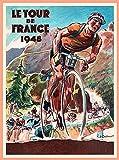 DHArt 1000 Piece Wood Jigsaw Puzzle 1948 Tour de France Bicycle Race Paris France Vintage Travel Art Adult Children Kid Grownup Lovers Wooden Puzzles Gift Toy