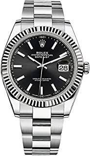 Rolex Datejust 41 Black Dial Stainless Steel Mens Watch