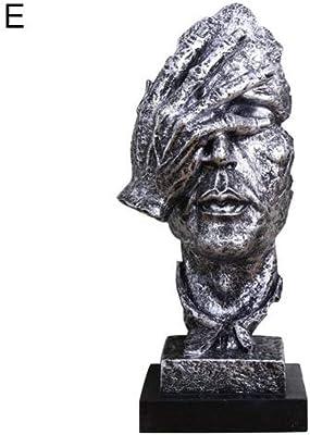 Character Sculpture Silence Is Gold Modern Resin Figure Statue Abstract Sculpture Craft Art Handmade Europe Abstract Art Ornament