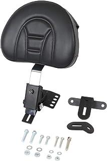 Senkauto Gloss Black Sissy Bar Backrest Pad Cushion Mount Kit for 1997-2018 Harley Touring Road Electra Stree Glide
