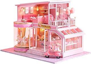 XYZMDJ Miniatyr dockhus kit, trä gör-det-själv dockhus kit varm barndomsminne, hantverk trä dockhus modellsatser gåvor