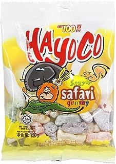 Lot 100 Hayoco Sour+ Gummy Candy 150g (628MART) (Safari, 9 Pack)