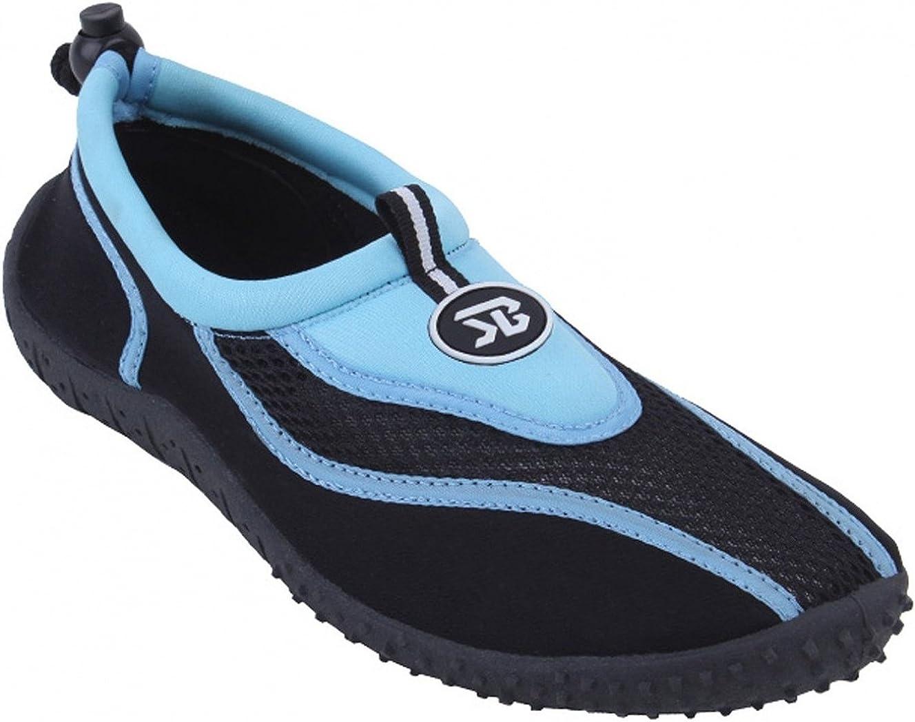 S2907 Women's 4 Colors Water Shoes Aqua Socks Slip on Athletic P