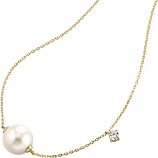 Aooaz Silver Material Necklace Women Girls Droplet Pearl Necklace Wedding