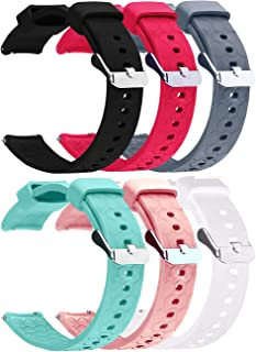 6-Pack Soft Silicone Bands Compatible with SoundPEATS Smart Watch, Quick Release Replacement Bands Sport Wristbands for So...