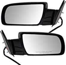 Power Side View Mirrors with Metal Base Driver and Passenger Replacements for Chevrolet GMC Old Body Style Pickup Truck SUV 15764757 15764758
