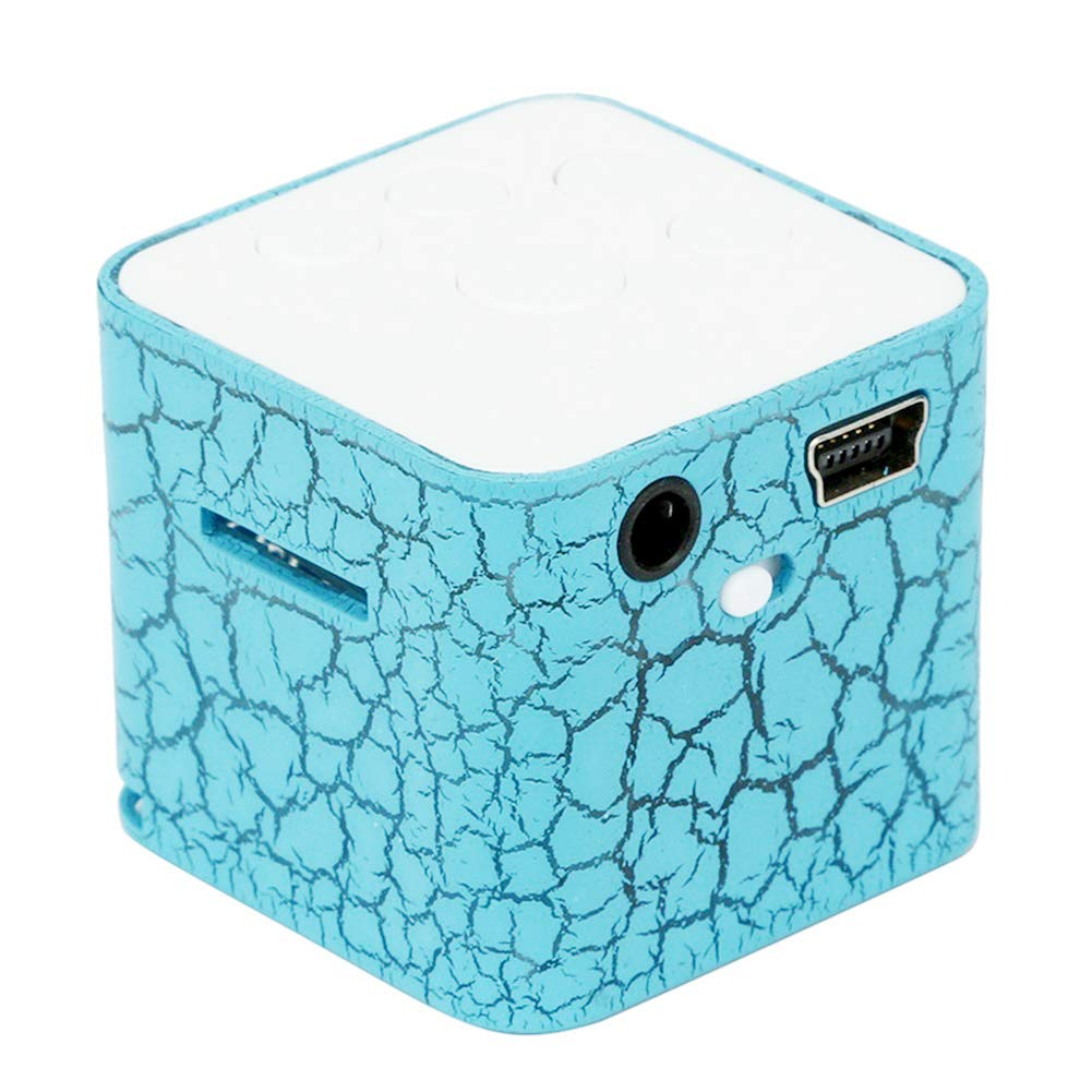 Mini altavoz portátil Grieta colorida Luz LED Pequeño altavoz Caja ...