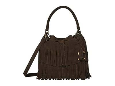 FRYE AND CO. Phoebe Bucket Bag (Dark Brown) Handbags