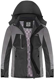 Waterproof Jackets for Men Women Lightweight with Hood, Rain Jacket for Outdoor Ski Snow Mountain Cycling