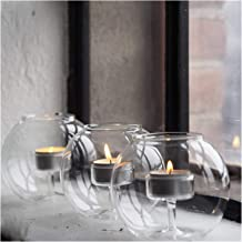 Candlesticks Clear Glass Candle Holder Votive Tea Light Candle Stand Home Decor for Weddings Parties Wedding Table Centerp...