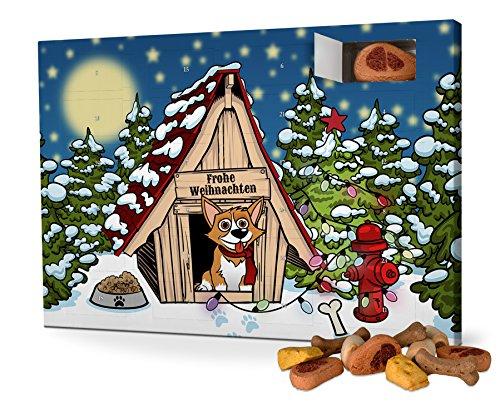 Hunde-Adventskalender mit Leckerlis - Motiv Cartoon