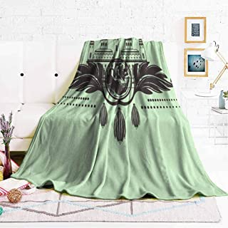 hengshu Fuzzy Blankets King Size Soft Throw Blankets for Adults W57 x L74 Inch
