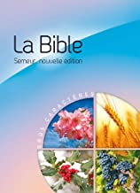 La Bible version semeur 2015 avec couverture rigide bleue et rose illustrée