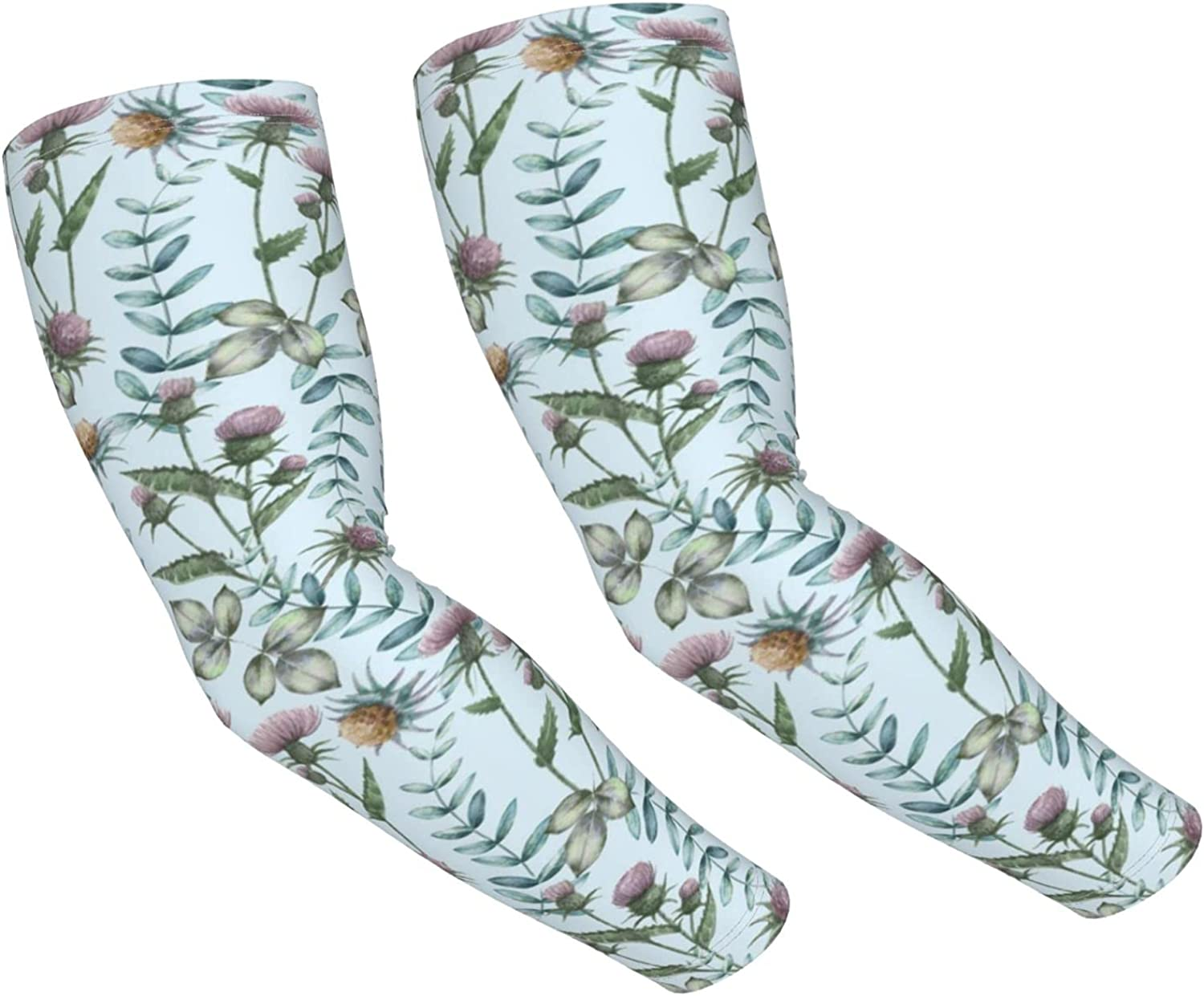 Purple Shipping included Max 89% OFF peony Unisex Arm Sleeves Coolin Covers Protection Sun