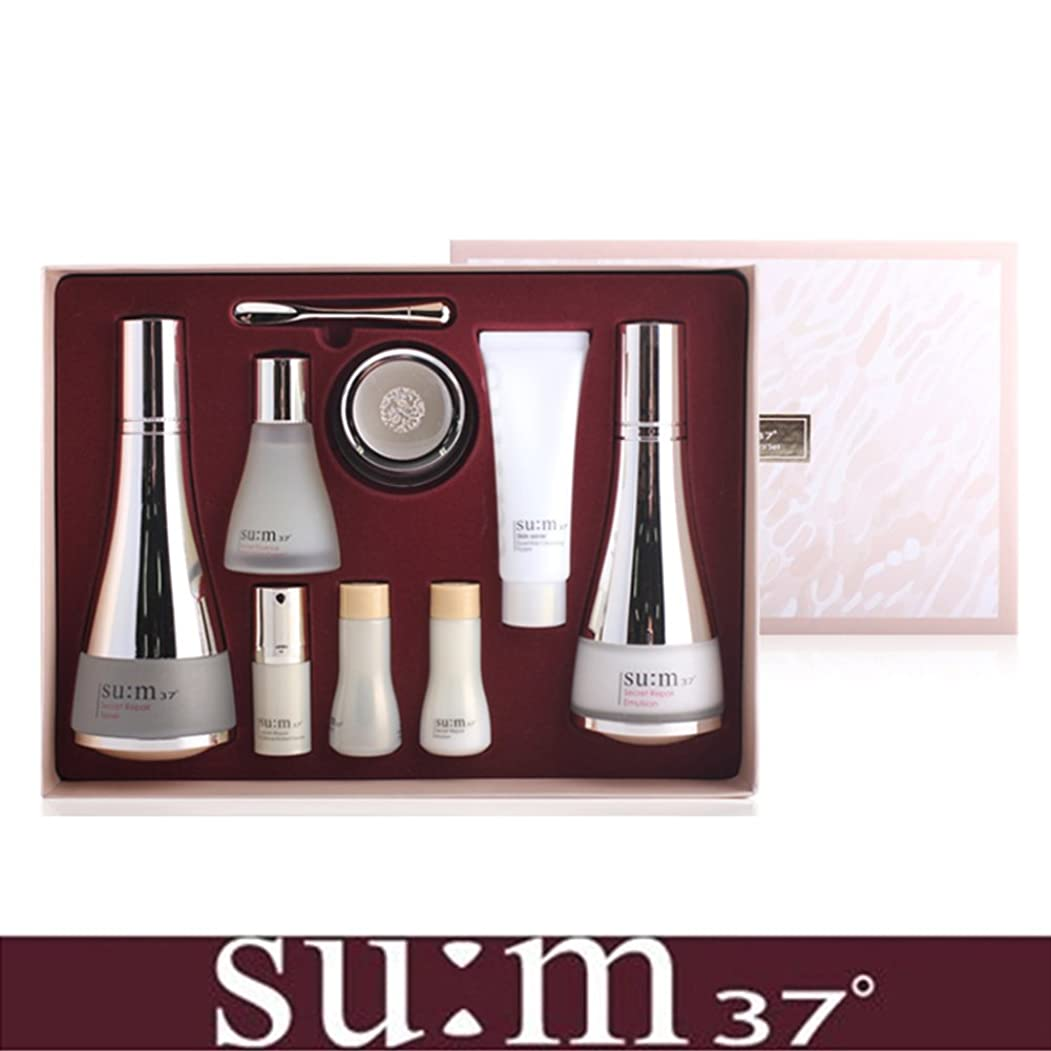 警戒君主ホステス[su:m37/スム37°] SUM37 Secret Repair 3pcs Special Skincare Set / シークレットリペア3種セット+[Sample Gift](海外直送品)
