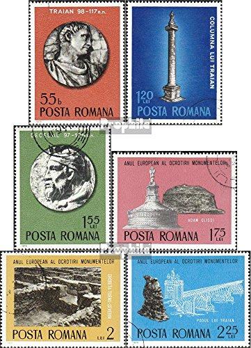 Prophila Collection Rumänien 3267-3272 (kompl.Ausg.) 1975 Denkmalschutz (Briefmarken für Sammler)