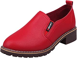 82767bbfb0baab S&H-NEEDRA Chaussures Automne Hiver Dames Femmes À La Cheville Plat Oxford  Cuir Chaussures Casual