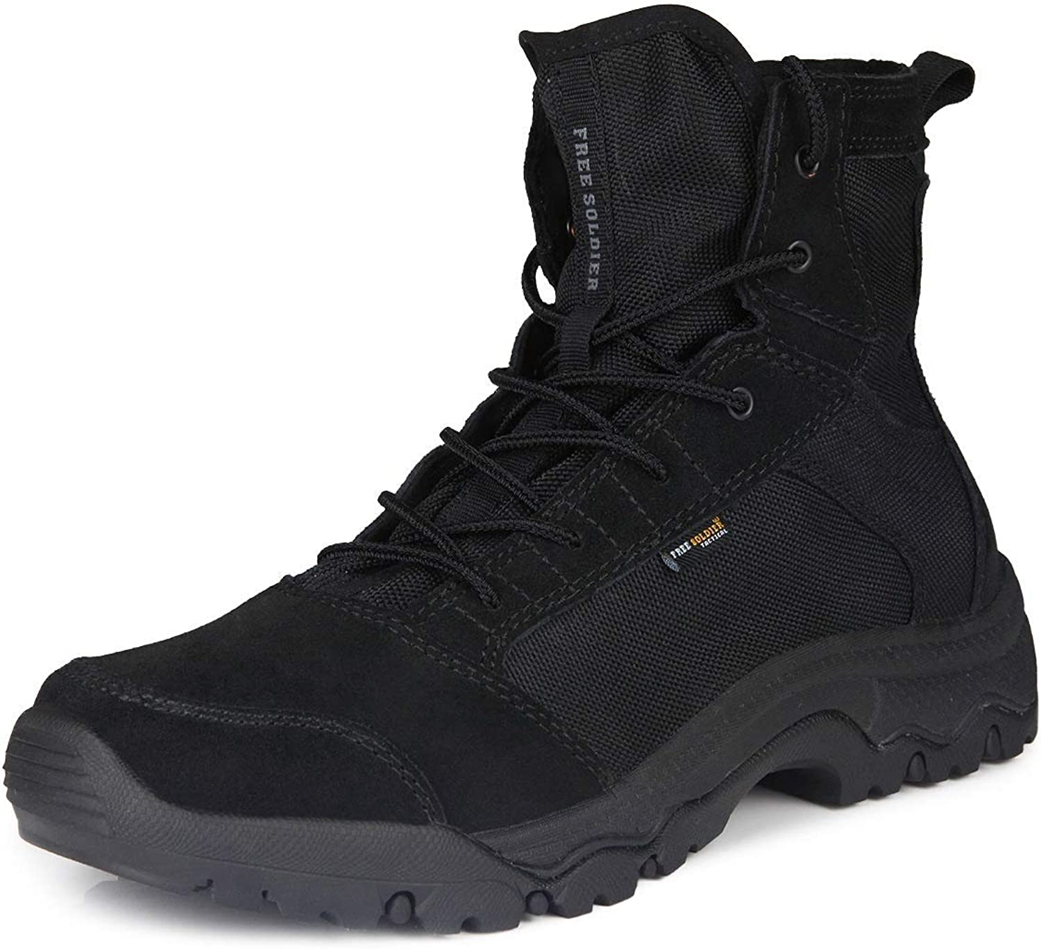 Free soldier Outdoor Tactical without Men Boots Storm Durable Lightweight Breathable shoes, Mens, Black, 46 EU