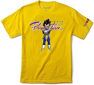Skate x Dragon Ball Z Men's Nuevo Vegeta Short Sleeve T Shirt Yellow