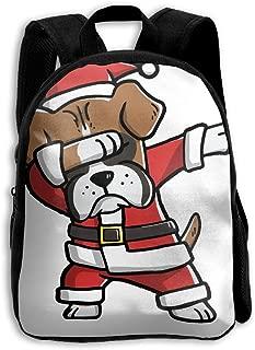 Dabbing Boxer Ugly Christmas Sweater School Backpack Children Shoulder Daypack Kid