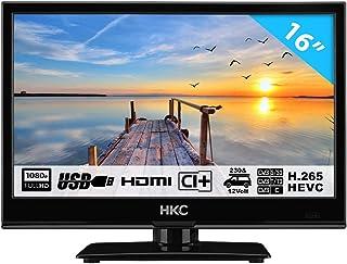 HKC 16M4H Petit TV (16 Pouces) TV LED (Full HD, Triple Tuner, CI +, Lecteur multimédia..