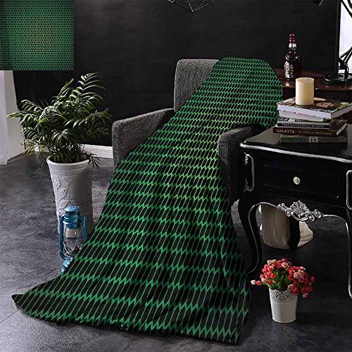 GGACEN bont deken Geometrische Honingraat Patroon met Polygonen Technologie Themed Grid Mesh Tile Warm Deken voor de herfst Winter