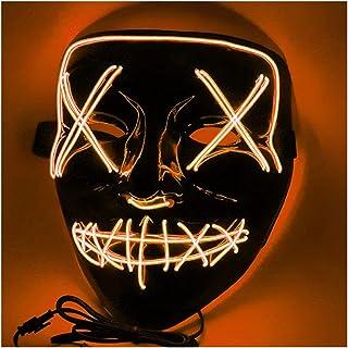 SCIDS Masque Halloween Masque De Purification À LED ,Masque Anonyme Halloween Mask Lumineux,Image Réaliste,Rehausser L'atm...