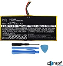 """MPF Products 6000mAh AVPB002-A110-01, GB-S02-308594-0100 Battery Replacement Compatible with Barnes & Noble Nook HD+ Plus 9"""" BNTV600 Tablet with Installation Tools"""