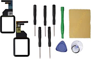 TheCoolCube Black Front Glass Touch Screen Digitizer Replacement for Apple Watch Series 1 42mm+ Tool