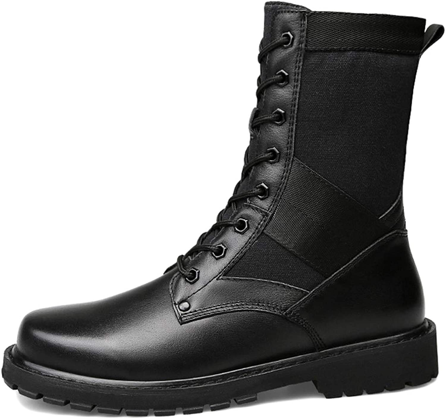 Liabb Men's Lace-ups Desert Combat Boots Outdoor Camping Climbing Army Tactical Boot Jungle Hiking High Top Patrol shoes Military Armed Footwear