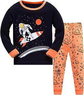 Boys Pajamas Kids Clothes Toddler PJs Sets Long Sleeve Sleepwear Size 2-8