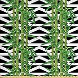 Lunarable Bambus-Stoff von The Yard, japanischer Dschungel,