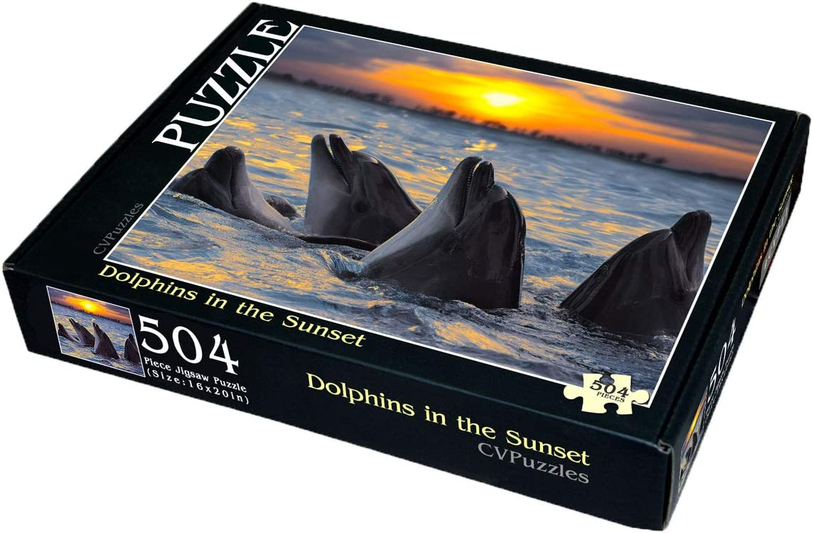 22. Dolphins in The Sunset 504 Piece Jigsaw Puzzle