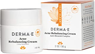 DERMA E Acne Rebalancing Cream, Prevents Blemishes, 2 oz